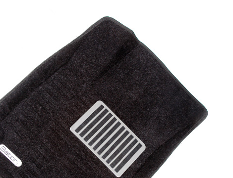 Коврики салона текстильные Audi A6 2003-> Satori с бортиком черные (с металлическим подпятником)