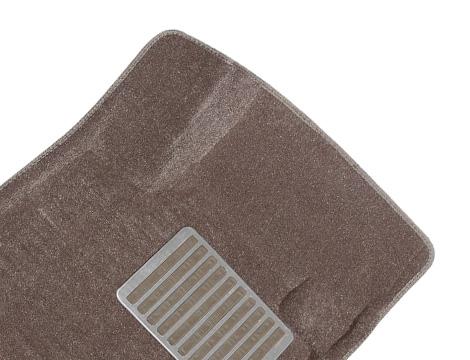 Коврики салона текстильные Acura MDX 2007-> Satori с бортиком бежевые (с металлическим подпятником)