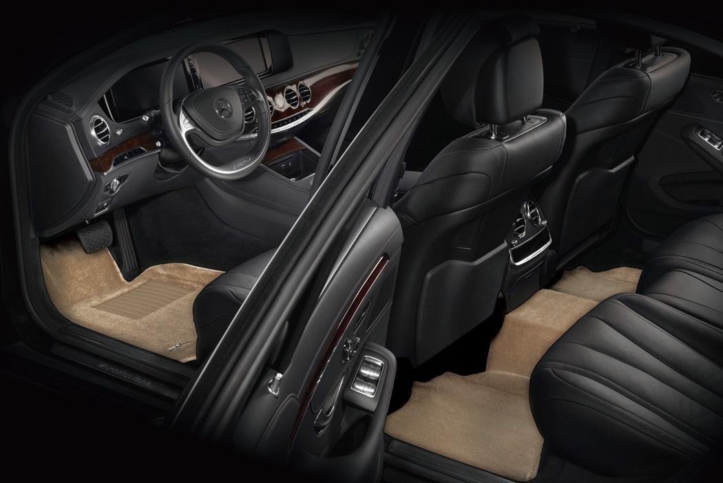 Коврики салона текстильные Audi A6 2011-> (4G,С7) LINER 3D VIP с бортиком бежевые