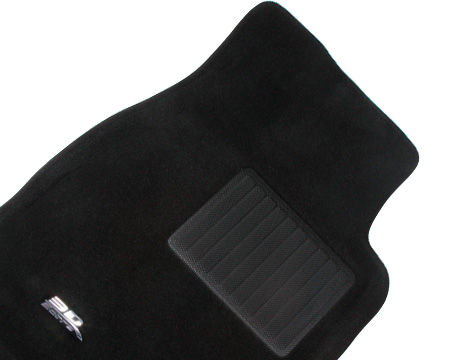 Коврики салона текстильные Audi A6 2011-> (4G,С7) LINER 3D VIP с бортиком черные