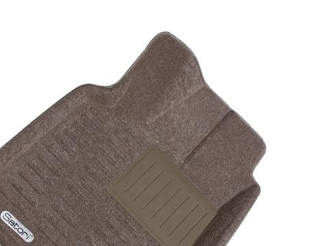 Коврики салона текстильные Audi Q7 2012-> Satori с бортиком бежевые