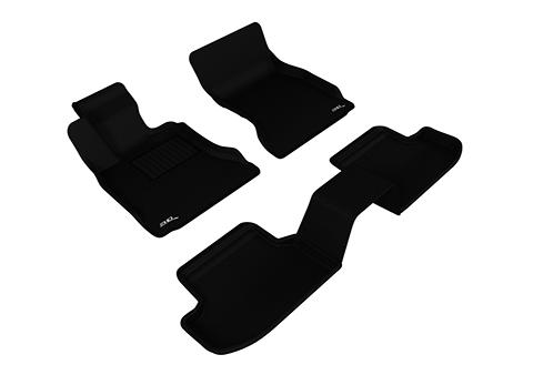 Коврики салона текстильные BMW 5** F10 2013-> restyling LINER 3D Lux с бортиком черные