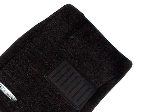 Коврики салона текстильные Nissan Qashqai+2 2011-> 3D Pradar с бортиком черные
