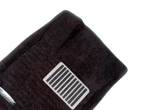 Коврики салона текстильные Nissan Qashqai+2 2011-> 3D Pradar с бортиком черные (с металлическим подпятником)