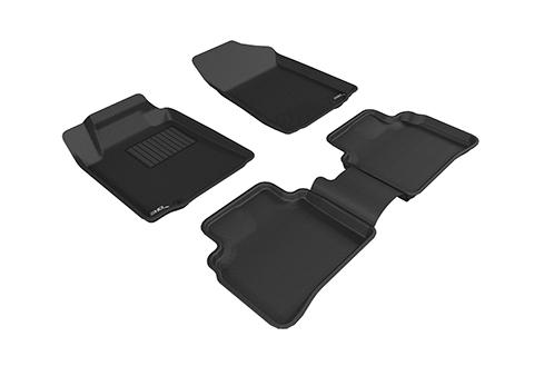 Коврики салона текстильные Nissan Teana III 2013-> LINER 3D VIP с бортиком черные