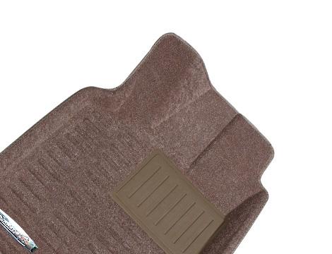 Коврики салона текстильные Nissan Tiida 2005-> 3D Pradar с бортиком бежевые