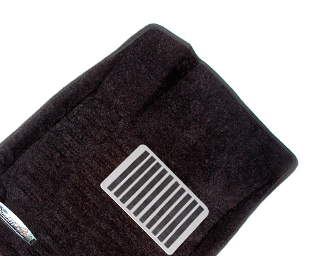 Коврики салона текстильные Nissan Tiida 2011-> 3D Pradar с бортиком черные (с металлическим подпятником)