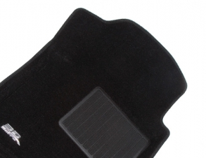Коврики салона текстильные Nissan Tiida 2004-2012 LINER 3D Lux с бортиком черные