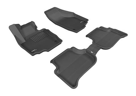 Коврики салона текстильные Skoda Yeti 2009-> LINER 3D Lux с бортиком черные