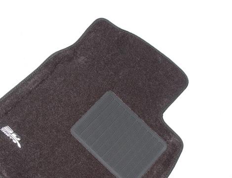 Коврики салона текстильные Toyota Land Cruiser 150 Prado 2009-2012 (3 ряда сид.) LINER 3D Lux с бортиком серые