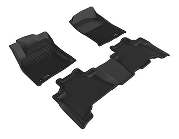 Коврики салона текстильные Toyota Land Cruiser 150 Prado 2012-> LINER 3D Lux с бортиком черные