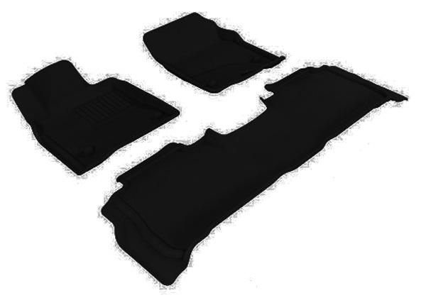 Коврики салона текстильные Toyota Land Cruiser 200 2007-2011 LINER 3D Lux с бортиком черные