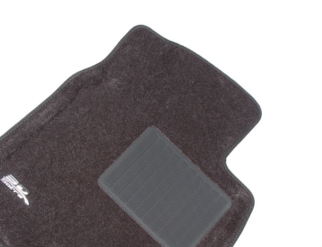 Коврики салона текстильные Toyota RAV 4 III SWB 2006-2012 LINER 3D Lux с бортиком серые (для Европы)