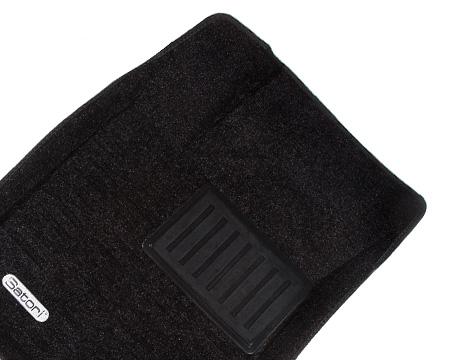 Коврики салона текстильные VW Passat B5 2001-> Satori с бортиком черные (2 части передн.)