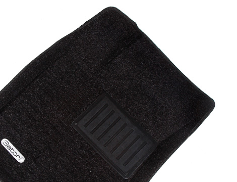 Коврики салона текстильные VW Polo 2009-> Hatch Satori с бортиком черные (4 части)