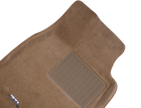 Коврики салона текстильные VW Touareg 2011-> (2-х зон. климат-контроль) LINER 3D VIP с бортиком бежевые