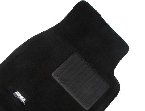 Коврики салона текстильные VW Touareg 2002-2010 LINER 3D VIP с бортиком черные (перед.2 шт.)