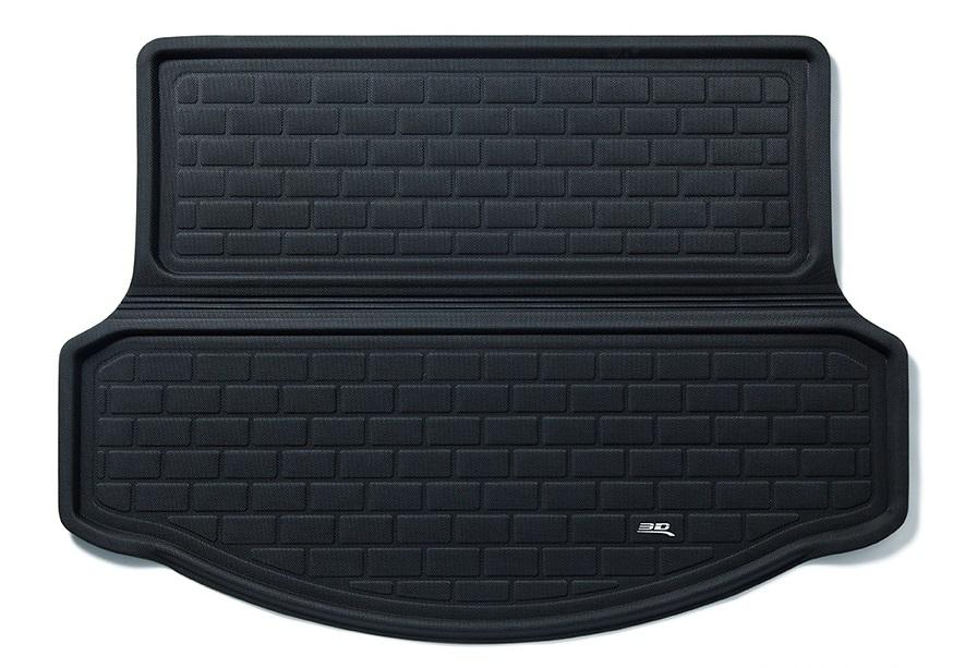 Коврик багажника текстильные Audi Q7 2006-> LINER 3D Lux с бортиком черный