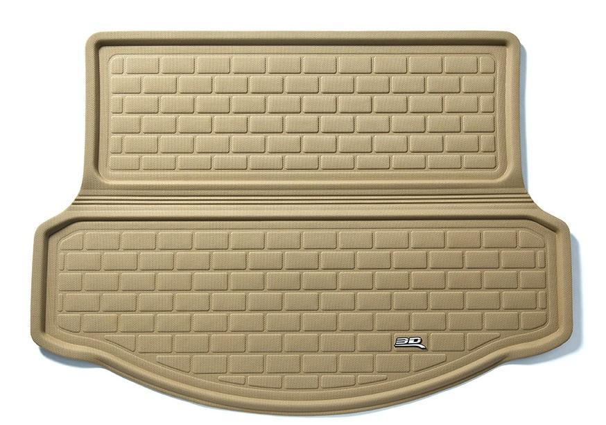 Коврик багажника текстильные Infiniti JX35 (QX60) 2013-> 7мест LINER 3D Lux с бортиком бежевый