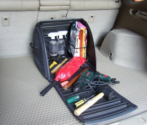 Сумка Lux Boot в багажник высокая серая FRMS (44x39x35 см)