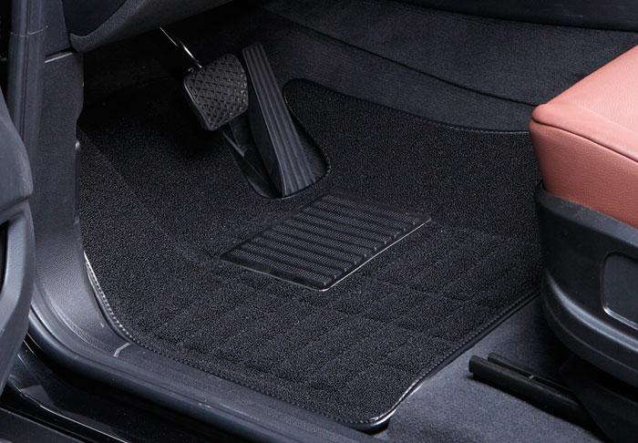 Коврики салона текстильные Audi A6/A7 2012-> 3D Pradar XL черные (с металлическим подпятником)