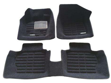 Коврики салона текстильные Ford Mondeo V 2013-> 3D Pradar XL черные (с металлическим подпятником)
