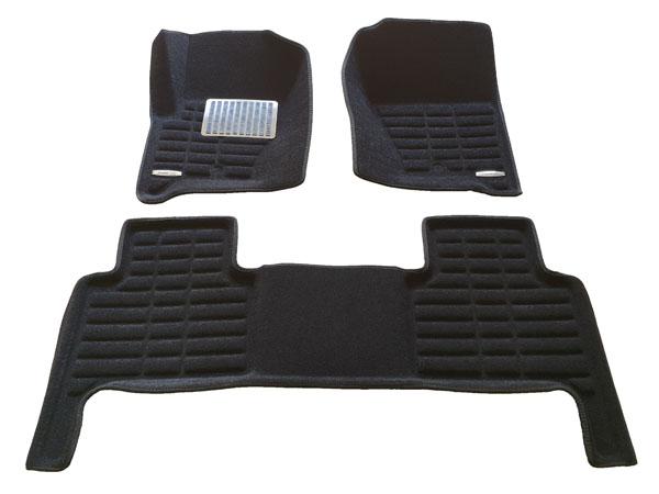Коврики салона текстильные Land Rover Discovery 4 2008-2013 3D Pradar XL черные (с металлическим подпятником)