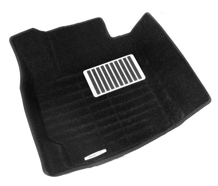 Коврики салона текстильные MB W205 C-Classe 2014-> 3D Pradar XL черные (с металлическим подпятником)