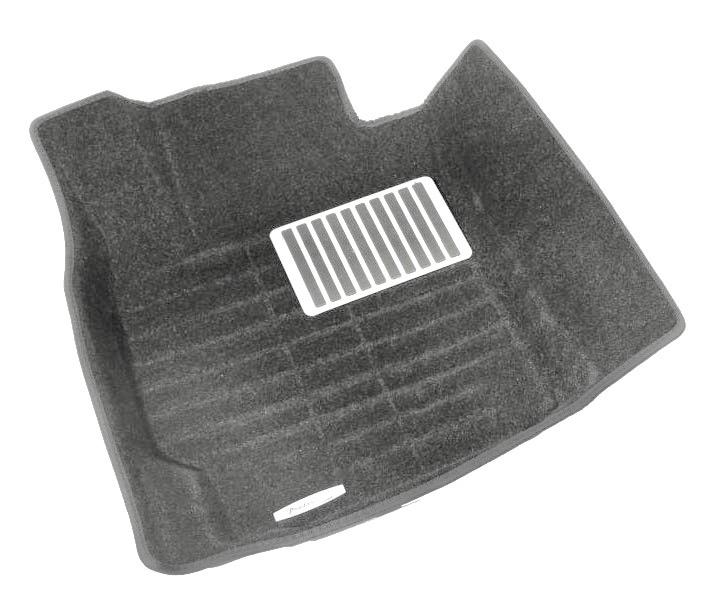 Коврики салона текстильные Toyota Land Cruiser 200 2008-> 3D Pradar XL серые (с металлическим подпятником)