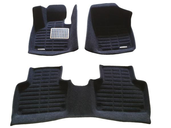 Коврики салона текстильные Volvo XC90 2015-> 3D Pradar XL черные (с металлическим подпятником)