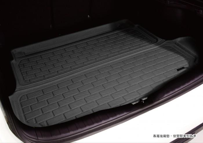 Коврик багажника текстильные Audi Q7 II 2015-> LINER 3D Lux с бортиком черный