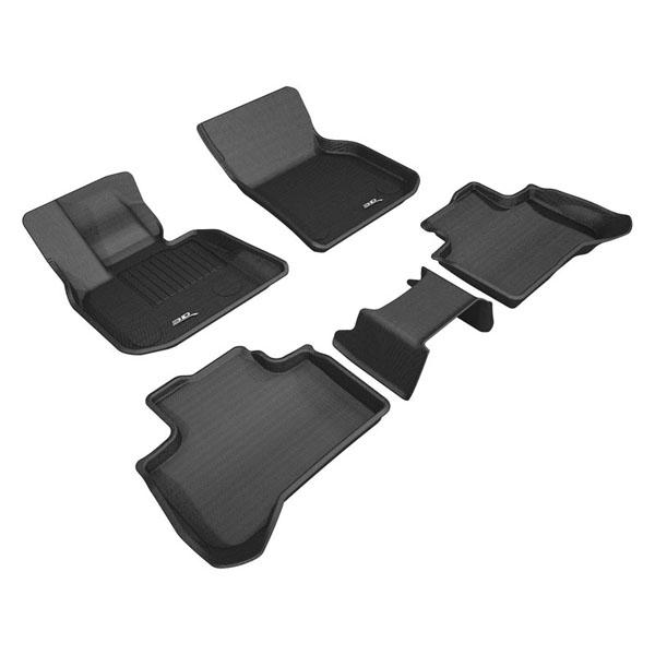 Коврики салона текстильные BMW X3 G01 2018-> LINER 3D Lux с бортиком черные