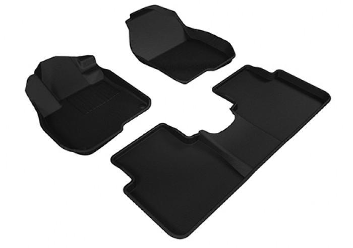 Коврики салона текстильные Honda CR-V V 2017-> LINER 3D Lux с бортиком черные