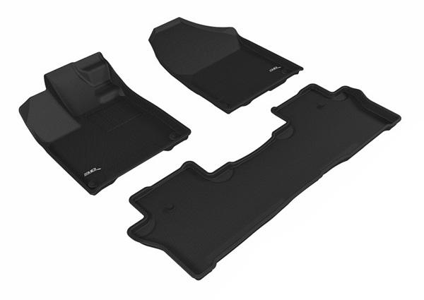 Коврики салона текстильные Honda Pilot 2017-> LINER 3D Lux с бортиком черные
