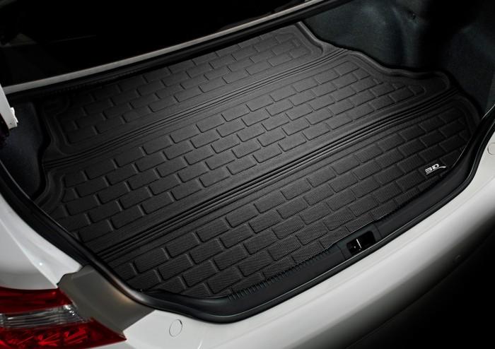 Коврик багажника текстильные Land Rover Discovery V 2017-> LINER 3D Lux с бортиком черный