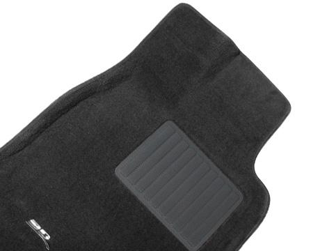 Коврики салона текстильные Infiniti QX56 II (QX80) 2010-> LINER 3D VIP с бортиком серые (перед.2шт)