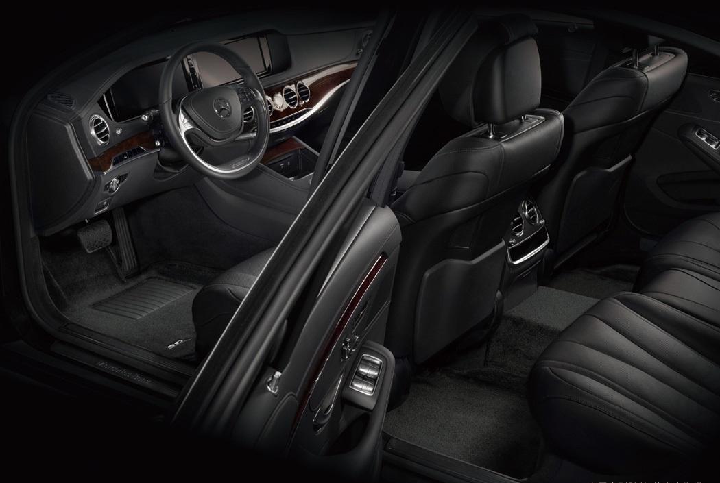 Коврики салона текстильные MB W222S S-Class 2013-> LINER 3D Lux с бортиком черные