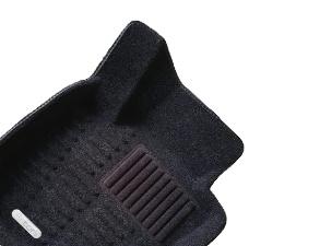 Коврики салона текстильные VW Polo 2009-> Hatch Satori с бортиком черные (с текстильным подпятником)