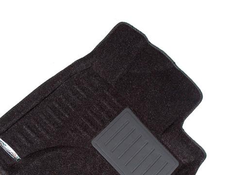 Коврики салона текстильные Chevrolet Lacetti 2008->/Daewoo Gentra II 2013-> 3D Pradar с бортиком серые