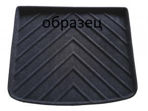 Коврик багажника текстильные Audi Q7 II 2015-> LINER с бортиком черный