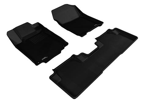 Коврики салона текстильные Honda CR-V IV 5D 2012-> LINER 3D Lux с бортиком черные