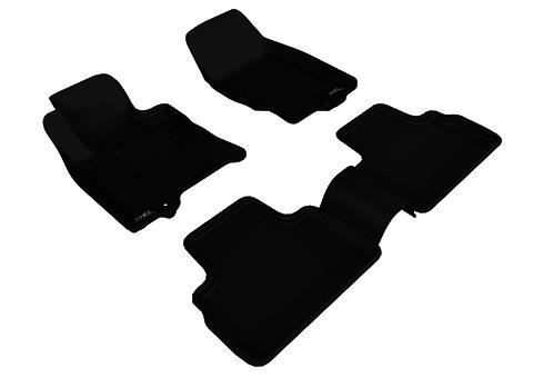Коврики салона текстильные Infiniti FX35 (QX70) 2009-> LINER 3D Lux с бортиком черные