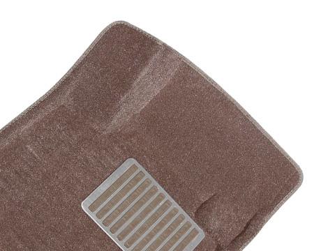Коврики салона текстильные Infiniti G35 2007-> 3D Pradar с бортиком бежевые (с металлическим подпятником)