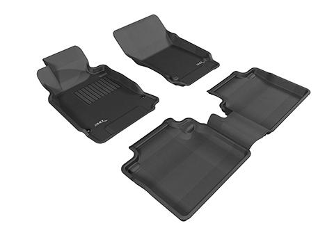 Коврики салона текстильные Infiniti G37 (Q50) 2013-> LINER 3D Lux с бортиком черные