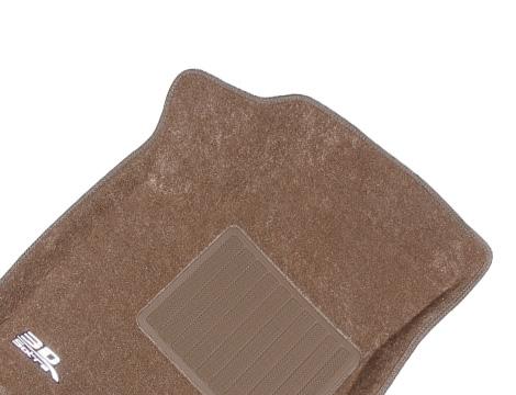 Коврики салона текстильные Infiniti QX56 II (QX80) 2010-> (3 ряда сид.) LINER 3D Lux с бортиком бежевые