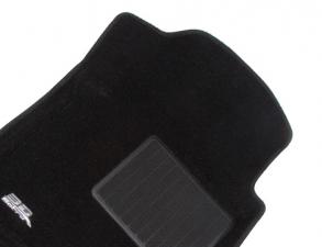 Коврики салона текстильные Infiniti QX56 II (QX80) 2010-> (3 ряда сид.) LINER 3D Lux с бортиком черные
