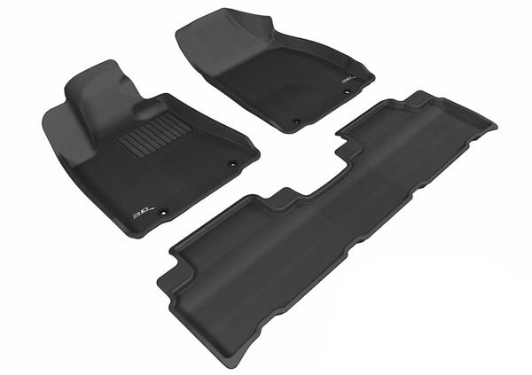Коврики салона текстильные Lexus RX350/450 2012-> LINER 3D Lux с бортиком черные